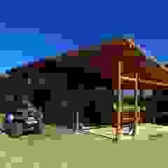 Casas de estilo rural de bioma arquitectos asociados Rural Madera Acabado en madera
