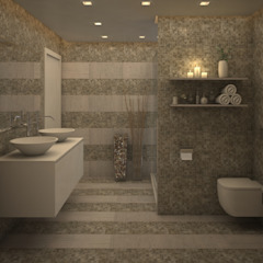 Baño Habitación Principal Baños de estilo moderno de Gabriela Afonso Moderno Azulejos