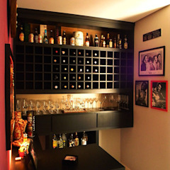 Tropical style wine cellar by homify Tropical