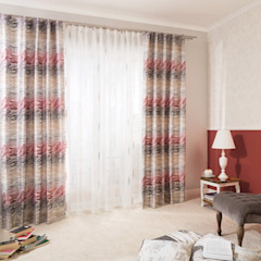 Indes Fuggerhaus Textil GmbH Windows & doors Curtains & drapes Textile Red