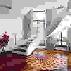 Schody kręcone-spiralne Nowoczesny korytarz, przedpokój i schody od A.P. RUD Schody Nowoczesny