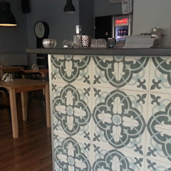 Realizacje naszych klientów - płytki cementowe Kolonialna jadalnia od Kolory Maroka Kolonialny Płytki