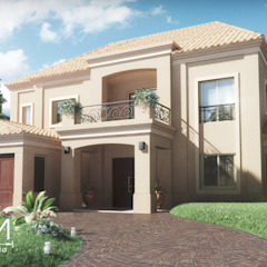 Colonial style house by Creatura Renders Colonial