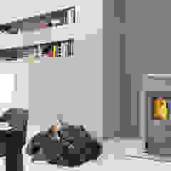 RIKA Innovative Ofentechnik GmbH ห้องนั่งเล่นเตาผิงและของตกแต่ง Grey