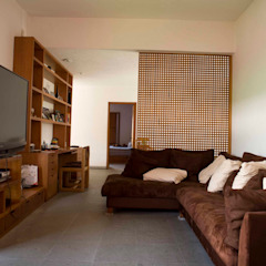 Casa Tepepan Salas multimedia modernas de José Vigil Arquitectos Moderno