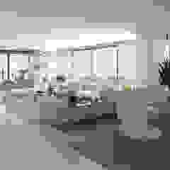 Proyecto de viviendas de lujo - Morano Mare Salas modernas de Area5 arquitectura SAS Moderno Cerámico