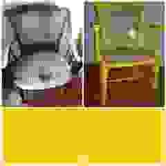 cadeira em palhinha recuperada e reciclada por Objetos Moderno Madeira Efeito de madeira
