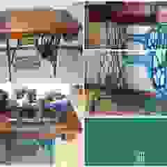 Máquina Singer transformada numa mesa de apoio para o Hall de entrada por Objetos Moderno