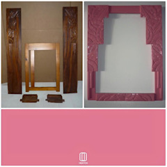 Moldura feita com sobras de um armário por Objetos Moderno