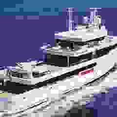 Industrialne jachty i motorówki od Luca Dini Design Industrialny