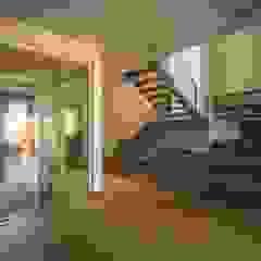 Residência Kaimoti Corredores, halls e escadas campestres por Biloba Arquitetura e Paisagismo Campestre