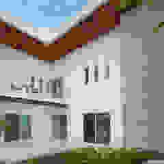 Modern balcony, veranda & terrace by Grupo Arsciniest Modern Wood Wood effect