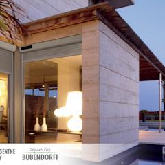 Rolety zewnętrzne solarne - ID2 SOLAR Śródziemnomorskie domy od Inteligentne Rolety Bubendorff Śródziemnomorski Aluminium/Cynk