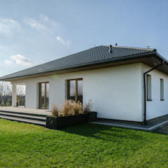ARIEL - WYGODNY I FUNKCJONALNY DOM PARTEROWY od Biuro Projektów MTM Styl - domywstylu.pl Nowoczesny