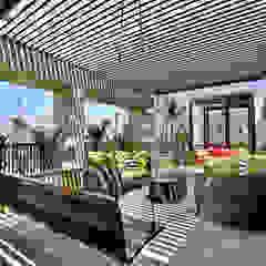 Nikhil patel residence Hiên, sân thượng phong cách hiện đại bởi Dipen Gada & Associates Hiện đại