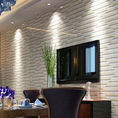 Water Jet Mosaics in Various China Projects ShellShock Designs Modern dining room Tiles Multicolored