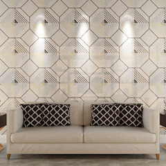 Water Jet Mosaics in Various China Projects ShellShock Designs Modern living room Tiles Multicolored
