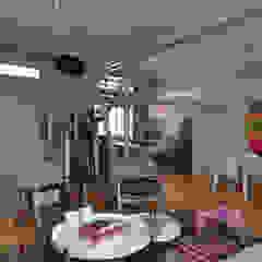 Salas de estilo moderno de Matealbino arquitectura Moderno