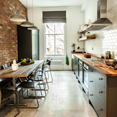 W10 Kitchen by British Standard by British Standard by Plain English Rustic Wood Wood effect