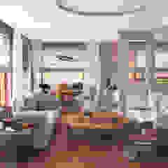 SHANGHAI Azjatycki salon od Ludwinowska Studio Architektury Azjatycki