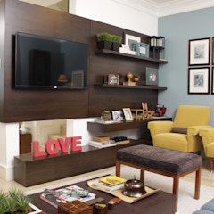 Mediterranean style media rooms by Fernanda Moreira - DESIGN DE INTERIORES Mediterranean