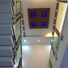 Staircase Modern Corridor, Hallway and Staircase by Ansari Architects Modern