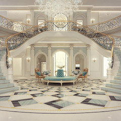 Interior Design & Architecture by IONS DESIGN Dubai,UAE راهرو سبک کلاسیک، راهرو و پله من IONS DESIGN كلاسيكي