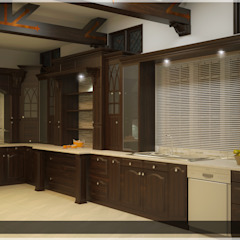 Victorian style in Interiors Asian style kitchen by Monnaie Architects & Interiors Asian