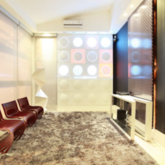 Casa Design Salas multimídia minimalistas por guilhermearquiteto Minimalista