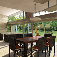Lts Punta Caracol - A.flo Arquitectos Comedores de estilo moderno de A.flo Arquitectos Moderno Concreto