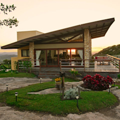 Casas de estilo rural de Duo Arquitetura Rural Madera Acabado en madera