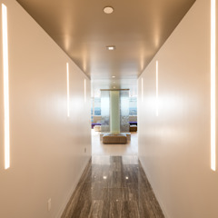 Luxury Apartment Combination Minimalist corridor, hallway & stairs by Andrew Mikhael Architect Minimalist