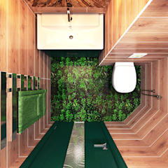 Your royal design Minimalist style bathroom Green