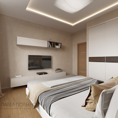 Minimalist bedroom by Студия Павла Полынова Minimalist
