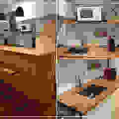 Cocinas de estilo minimalista de DIM Arquitectura Minimalista Madera Acabado en madera