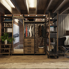 Industrial style dressing room by Anton Medvedev Interiors Industrial