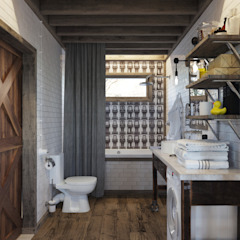 Industrial style bathroom by Anton Medvedev Interiors Industrial