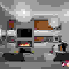 Scandinavian style living room by Дизайн-студия Анны Игнатьевой Scandinavian Bamboo Green