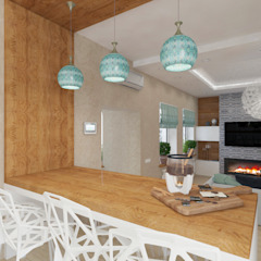 Scandinavian style dining room by Дизайн-студия Анны Игнатьевой Scandinavian