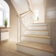 Scandinavian style corridor, hallway& stairs by Дизайн-студия Анны Игнатьевой Scandinavian