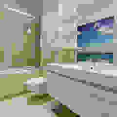 Błękitna Laguna Śródziemnomorska łazienka od Perfect Space Śródziemnomorski