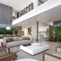 Casa C Salas de estar minimalistas por Martins Lucena Arquitetos Minimalista
