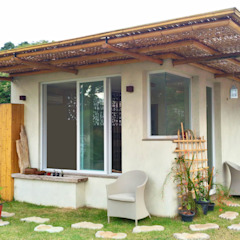 Casa Ibirapuera Spa campestre por BAMBU CARBONO ZERO Campestre Bambu Verde