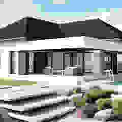 Projekt domu HomeKONCEPT-32 Nowoczesne domy od HomeKONCEPT | Projekty Domów Nowoczesnych Nowoczesny Drewno O efekcie drewna