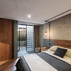 Industrial style bedroom by MX Taller de Arquitectura & Diseño Industrial Concrete
