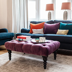 Colourful Eclectic London Sitting Room Lauren Gilberthorpe Interiors Living room Multicolored