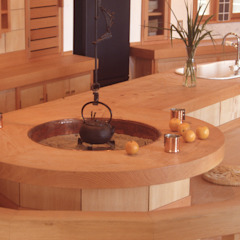Eclectic style kitchen by (株)独楽蔵 KOMAGURA Eclectic