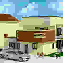 residence Ar. Sukhpreet K Channi Rustic style house