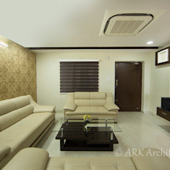 Drawing room ARK Architects & Interior Designers 現代風玄關、走廊與階梯