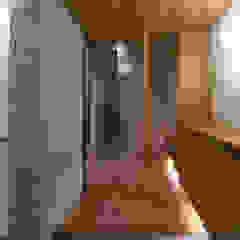 かんばら設計室 Eclectic style corridor, hallway & stairs Stone
